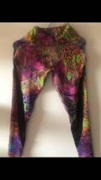 Calça legging para ginástica M marca Get Shape