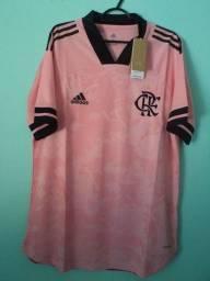Camisa do Flamengo Outubro Rosa Masculina 2020