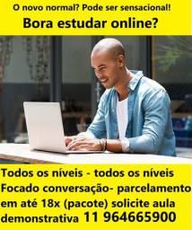 Curso de inglês e curso de espanhol pelo Whatsapp, método próprio