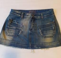 Saia jeans Espaço Fashion