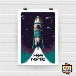 3 Posters Foo Fighters Decoração Tamanho A4 (21cm x 30cm)