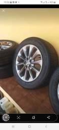 Título do anúncio: Jogo de roda com os pneus zerado