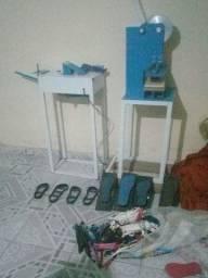 Máquina de fazer chinelos compacta print manual