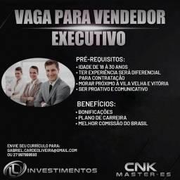 Título do anúncio: VAGAS PARA VENDEDOR, VITÓRIA