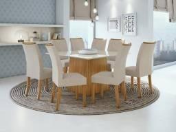 Título do anúncio: Mesa de Jantar Nevada - 8 cadeiras