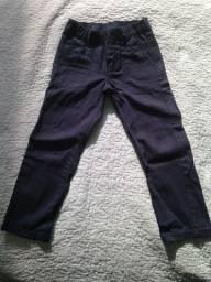 Calça de brim infantil 4-5 anos azul marinho