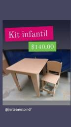 Título do anúncio: Mesa + cadeira infantil MDF