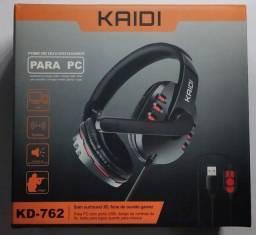 Headset gamer USB KAIDI Original ENTREGA GRÁTIS