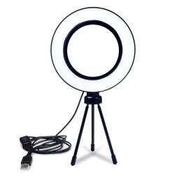 Ring Light com tripé de mesa