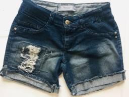 Título do anúncio: Shorts Jeans Escuro Lindo Destroyed Tamanho 40