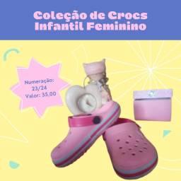 Crocs Infantil Rosa