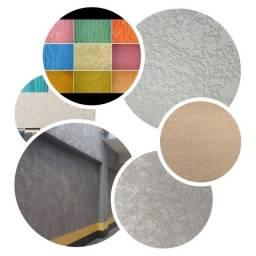 Título do anúncio: Texturas projetada , grafiato e textura rolada.