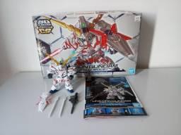 Unicorn Gundam Destroy Mode SD Gundam Cross Silhoute Bandai já montado