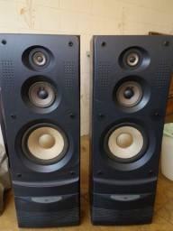 Par de Caixas de Som Gradiente 3 way bass reflex speaker system W-Z