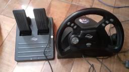 Volante e pedal para ps1,ps2