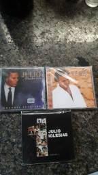 Lote cds Júlio Iglesias  50,00 reais