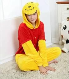 Pijama cosplay Ursinho Pooh e Panda