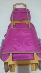 Conjunto mochila e lancheira do Frozen
