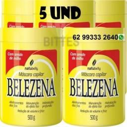 5 Cremes Amido De Milho Maizena Belezena Natubelly 500 G