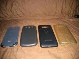 3 Capas protetora smartphone e tampa traseira S3 neo duos original