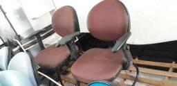 Cadeiras fixas para escritório entrego