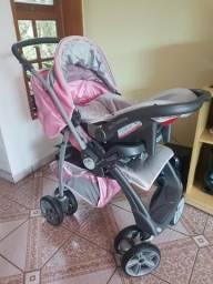 Carrinho + bebê conforto + base Burigotto
