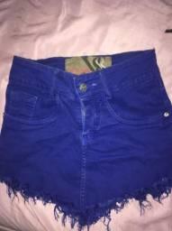 Saia jeans azul