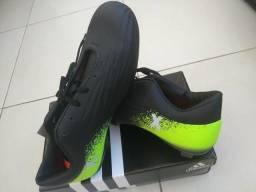 f506471553 Chuteira Adidas X 16.1 Preto e Verde Limão