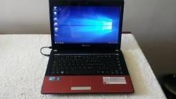 Notebook Gateway NV49C09p , I3 M370, 2,40 Ghz, 4 Mb RAM, 320 Gb HD, tela 14