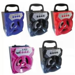 Caixinha de Som Pequena Bluetooth Portátil Rádio Fm Usb Micro Sd 6w