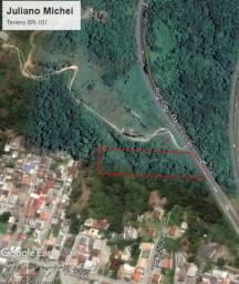 Excelente terreno na BR 101 divisa com a cidade de Itapema SC