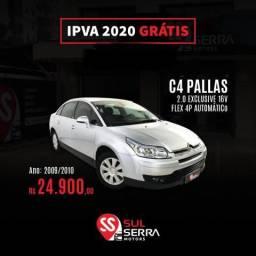 C4 2010/2010 2.0 PALLAS EXCLUSIVE 16V FLEX 4P AUTOMÁTICO - 2010