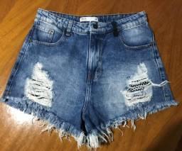 Shorts Jeans Azul + Short Jeans Preto