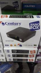 Receptor de Satélite Century Parabólica Nano box melhor sinal de entretenimento para você