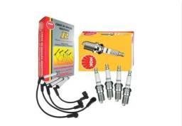Kit cabo e Vela ignição Fiat motores Fire Flex