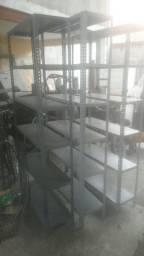 Prateleiras de aço seis bandeijas