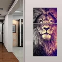 Quadro decorativo Leão 120x60