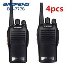 Kit 4 Radio Comunicador Walk Talk Baofeng Bf-777s