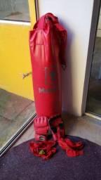 Saco de Pancadas 90cm + 02 luvas de MMA + 02 ataduras Adidas