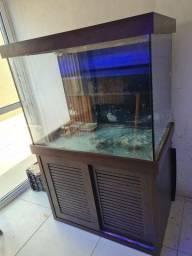 Aquario 450lts cristal clear  marinho ou doce com sump