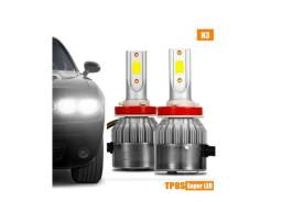 Título do anúncio: Par H1 H3 H7 H8 H11 H16 H27 Hb3/4 Super Led 6000k 7800lm Top