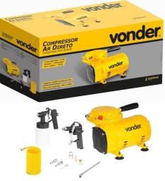 Compressor Ar Direto 1/2cv Vonder + Kit Pintura,