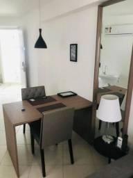 Alugo Flat Mobiliado contrato 12 meses , mensal R$ 2.500,00, Ao lado Colégio Santa Maria