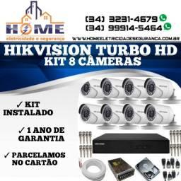 Câmeras de Segurança Hikvision Kit 8Câmeras *