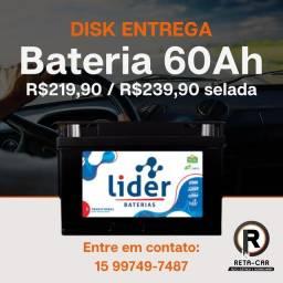 Título do anúncio: Baterias Líder 60ah | Disk Entrega Sorocaba e Votorantim .?