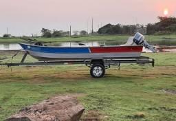 Barco de alumínio  motor 25 Yamaha