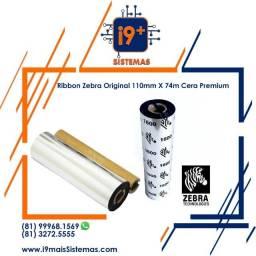 Ribbon Zebra Original 110mm X 74m Cera Premium Series 1600