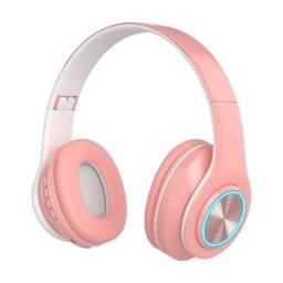 Fone De Ouvido Inpods Boom Macaron Headphones Rosa Over-Ear