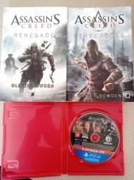 Título do anúncio: Jogo PS4 + 2 Livros