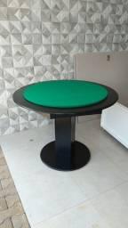 Mesa Carteado Cor Preta Tecido Verde Mod. DSPR7645